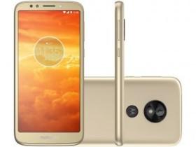 """Smartphone Motorola Moto E5 Play 16GB Ouro 4G – Quad Core 1GB RAM Tela 5,34"""" Câm. 8MP + Selfie 8MP Dourado"""