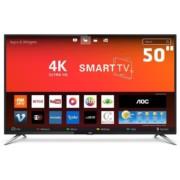 """Smart TV 50"""" AOC Le50u7970s Ultra HD 4k Uhd Conversor Digital 4 HDMI 2 USB Wi-Fi 60hz"""