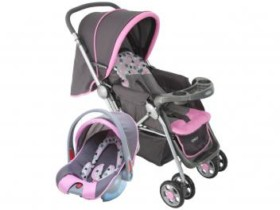 Carrinho de Bebê e Berço Passeio Cosco Travel – System Reverse p/ Crianças até 15kg
