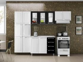 (LINDÍSSIMA) Cozinha Compacta Itatiaia Criativa com Balcão – 13 Portas 4 Gavetas Aço