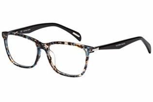 Óculos de Grau Victor Hugo Vh1760 0gek/54 Azul com Marrom Mesclado/preto