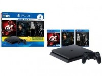 Playstation 4 1TB 1 Controle Sony com 3 Jogos – Plus 3 Meses