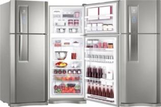 Geladeira/Refrigerador Electrolux Frost Free Inox – Inverter Duplex 427L Painel Touch IF53X