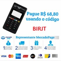 Maquininha mercado pago, point mini de 118,80 por 68,80