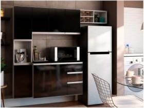 móveis e decoração Cozinha Completa Poliman Móveis Laura – com Balcão 8 Portas 2 Gavetas