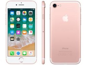 "iPhone 7 Apple 32GB Ouro Rosa 4G Tela 4.7"" Retina – Câm. 12MP + Selfie 7MP iOS 11 Proc. Chip A10 (cód. 218008100)"