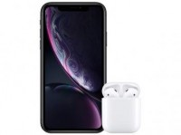 ***iPhone XR Apple 64GB Preto 4G Tela 6,1 Retina – Câmera 12MP + Selfie 7MP com AirPods***