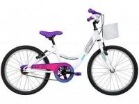 Bicicleta Infantil Aro 20 Caloi Ceci Branco – com Cesta Freio V-Brake Branco