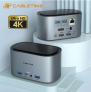 Hub USB tipo c/ 1HDMI+Vga – 3USB 3.0- Fone/Microfone- RJ45 [R$ 418,15]
