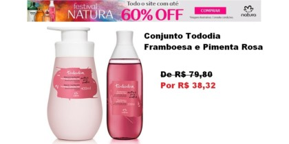 Conjunto Tododia Framboesa E Pimenta Rosa FRETE GRÁTIS- Hidratante E Body Splash
