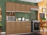 Cozinha Completa Poliman Móveis Paris – com Balcão Nicho para Forno ou Micro-ondas