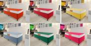 Cama Box Solteiro (Box + Colchão) Celuplás – 41cm de Altura Color Block