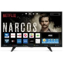 Smart Tv Led AOC 43 Polegadas Full HD Conversor Digital Wi-fi USB HDMI LE43S5970 – Aoc linha marrom